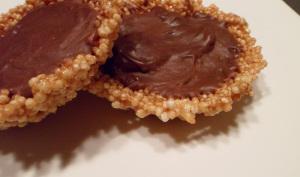 Tartelettes au chocolat caramel et quinoa façon florentin