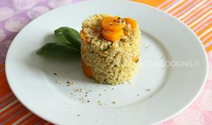 Boulghour aux carottes et au basilic