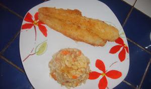 Coquillettes en risotto aux fruits de mer.