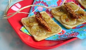 Mignardises à la banane, aux figues & au miel