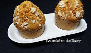 Muffin au spéculos et sucre perlé