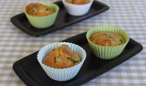 Muffins chèvre - petits pois