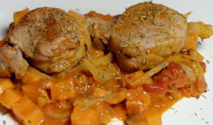 Filet mignon de porc aux patate douce et fenouil