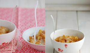 Sabayon au cidre de glace & fruits caramélisés