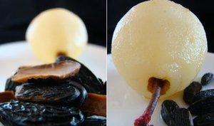 Biscuit de frangipane citronnee au coeur de caramel et quelques poires