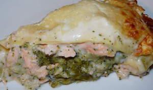 Lasagnes saumon-brocolis