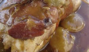 Cailles farcies au racamadour sauce Barbe-Bleue