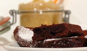 Petits Gâteaux Chocolatés à La Compote De Pommes