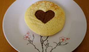 Pancakes coeur au Nutella