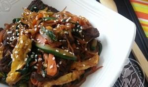 Japchae - Vermicelles sautées aux légumes