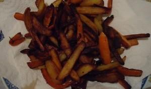 Frites de carottes et de pommes de terre