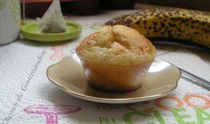 Muffins coeur banane allégés