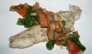 Escalope et sa poêlé de légumes