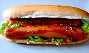 Hot dog version asiatique