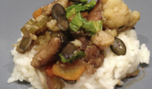 Poêlée de légumes aux cèpes et herbes aromatiques