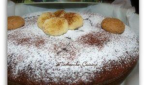 Gâteau au Chocolat, Bananes et Amaretti Secs
