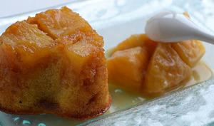 Ananas en Polenta au Caramel beurre salé