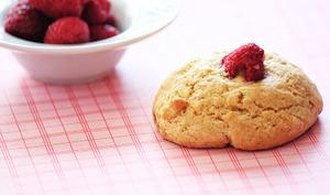 Cookies framboises et cacahuètes