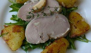 Enchaud de Porc, Salade de Pommes de terre et Roquette
