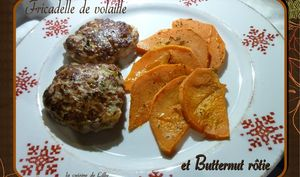 Fricadelles et Courge Butternut rôtie