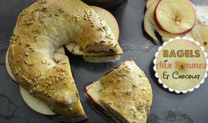 Bagels aux pommes et chocolat