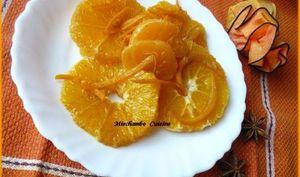 Salade d'oranges et clémentines aux épices et coulis d'orange