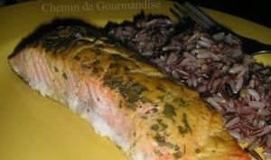 Saumon moutardé