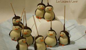 Cake pops Pingouin