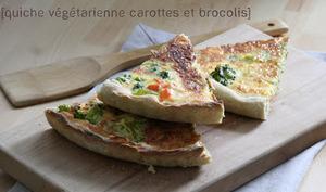 Quiche Végétarienne Carottes et Brocolis