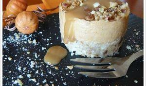 Cheesecake épicé à la Courge de Nice, Crème de Marrons et Carrés Frais Gervais