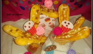 Chouquettes Allongées version Spéculoos et Grains de Sucres