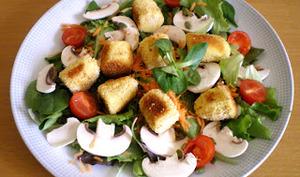 Salade de quenelles panées et vinaigrette aux agrumes