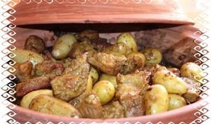 Tajine de veau aux pruneaux cuits au four