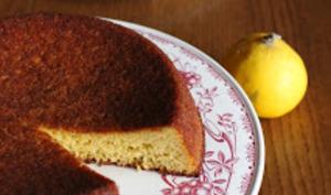 Gâteau sans gluten très bergamote