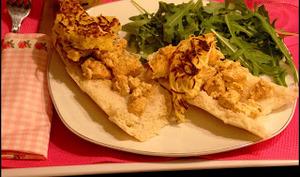 Tartines au poulet et aux röstis