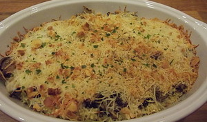 Millet au gratin champignons et crème de soja