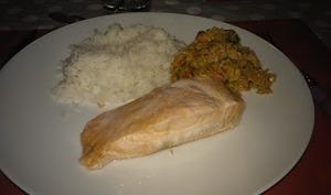 """Saumon et sa """"sauce"""" jardinière"""