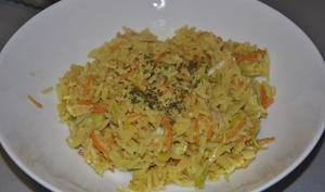 Riz sauté aux légumes et sauce soja