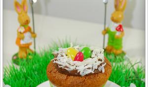 Muffins nids de Pâques coco choco nutella