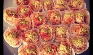 Kadaifs à l'amande, aux pistaches, miel et fleur d'oranger