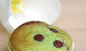 Muffins marbrés pistache et chocolat