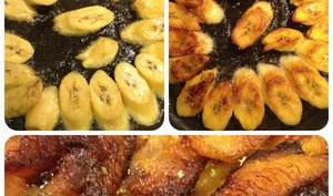 Les bananes jaunes frites