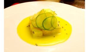 Ananas à l'huile d'olive, miel et citron