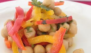 La salade de pois chiches aux poivrons