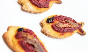 Petits poissons pizza