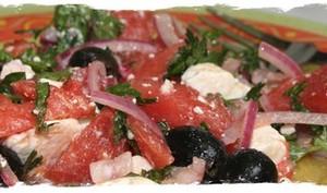 Salade fraîcheur à la pastèque et feta de Nigella
