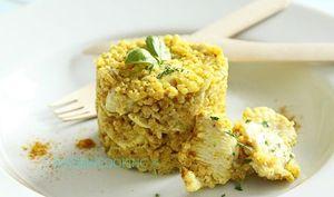 Risotto de boulghour au poulet et au curry