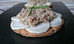 Tartines radis noir et sardines