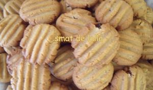 Biscuits pâte d'arachide et raisins secs