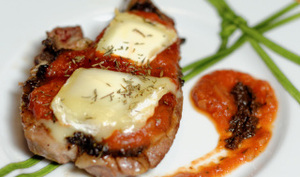 Côtes d'agneau tartinées